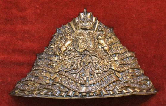 9TH ROYAL LANCERS CAP PLATE