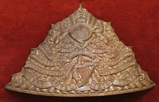 5TH ROYAL IRISH LANCERS CAP PLATE