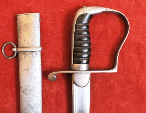 1796 PIPE-BACKED LIGHT CAVALRY OFFICER'S SWORD